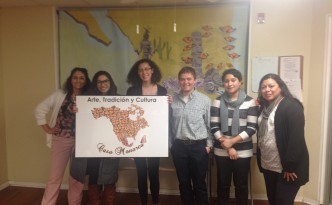 Photo with our Partners at Casa Monarca (South Philly)